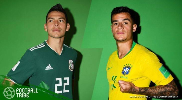 Prediksi 16 Besar Piala Dunia 2018, Brasil vs Meksiko: Ancaman Kepulangan Negara Besar Lainnya