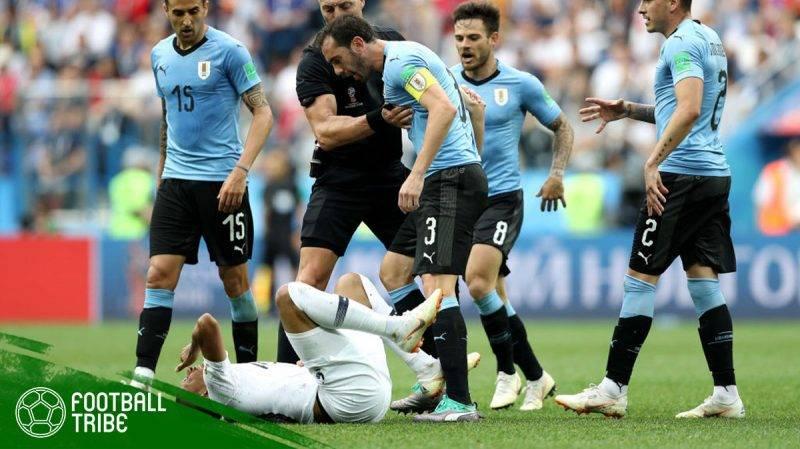 ekspresi Mbappe yang jatuh