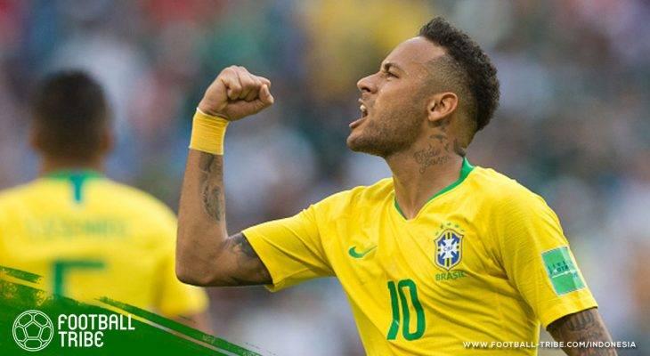 Gol Neymar Jadikan Brasil Negara Dengan Gol Terbanyak di Piala Dunia