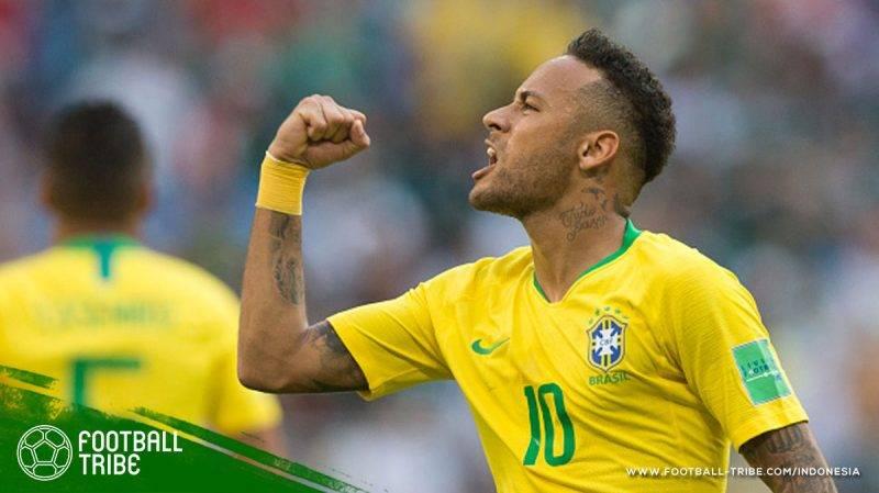 Neymar terbukti menjadi pemain Brasil tersibuk