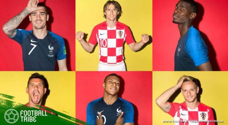Prediksi Final Piala Dunia 2018, Prancis vs Kroasia: Partai Panas Demi Trofi Emas