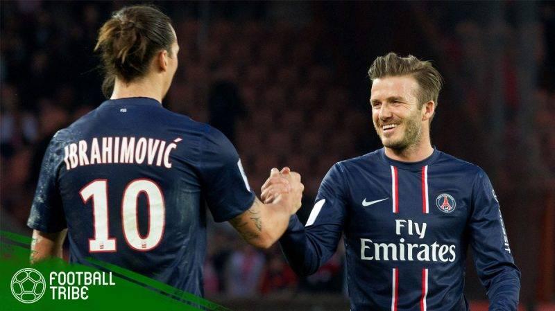 David Beckham dan Zlatan Ibrahimovic