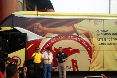 Sriwijaya FC Luncurkan Bus Baru Demi Pikat Investor