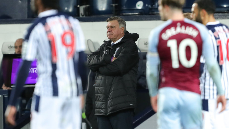 Sam Allardyce the head coach / manager of West Bromwich Albion looks on during the Premier League match between West Bromwich Albion and Aston Villa at The Hawthorns on December 20, 2020 in West Bromwich, United Kingdom