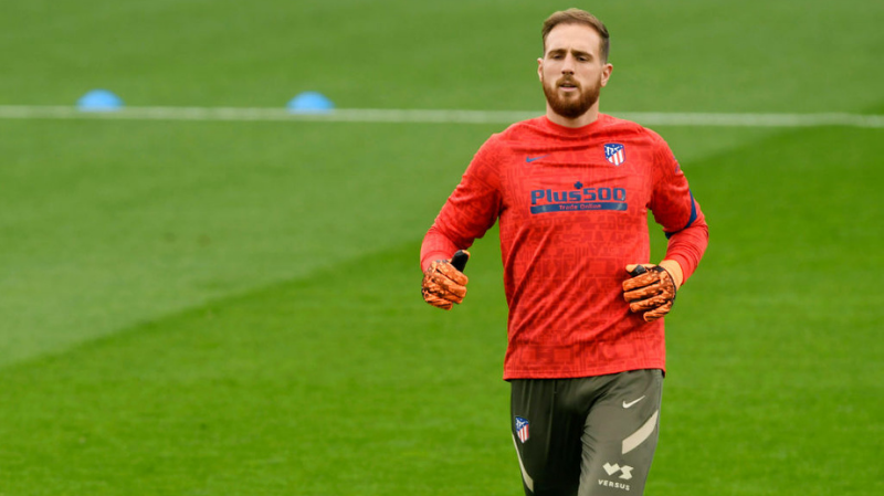 Jan Oblak of Atletico de Madrid during the La Liga match between RC Celta and Atletico de Madrid played at Abanca Balaidos Stadium on October 17, 2020 in Vigo, Spain.