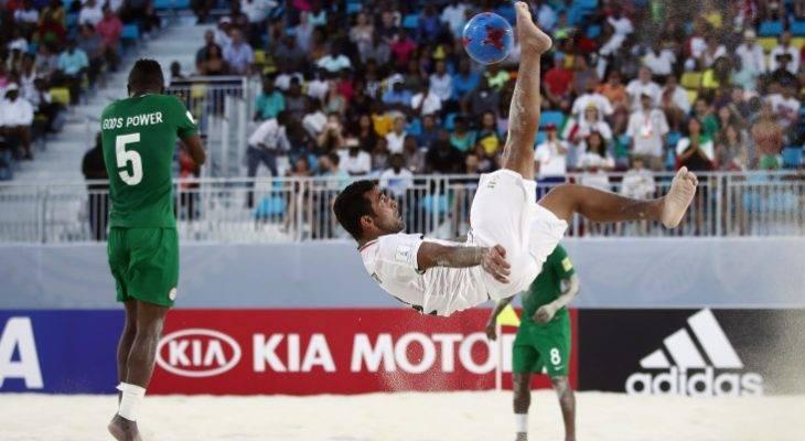 با پیروزی نفسگیر مقابل نیجریه؛ فوتبال ساحلی ایران در یک چهارم نهایی جام جهانی