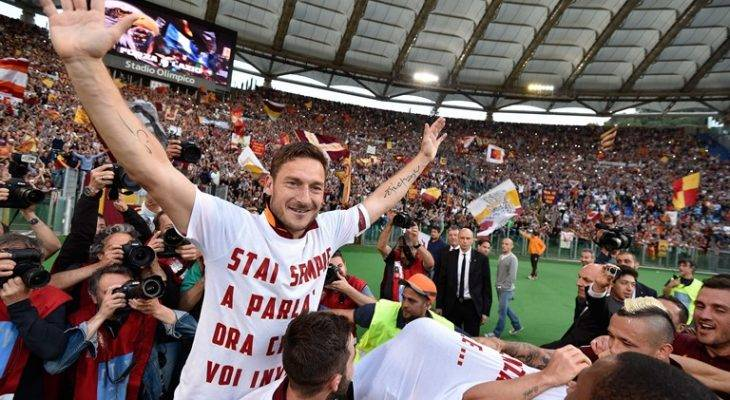 اریکسون: توتی برای هواداران رم مانند خداست
