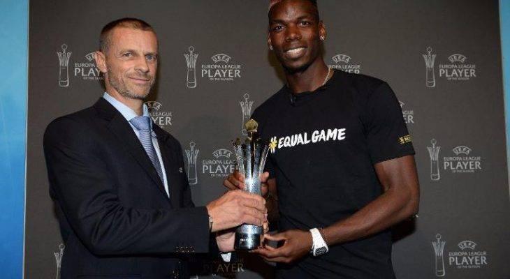 پل پوگبا بهترین بازیکن فصل 17-2016 لیگ اروپا شد
