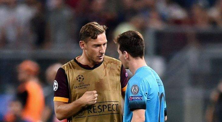 توتی: روبرو شدن با مسی و سوارز به بازیکنان رم انگیزه می دهد