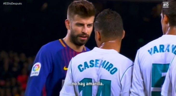جنگ لفظی پیکه با ستاره های رئال مادرید در ال کلاسیکو