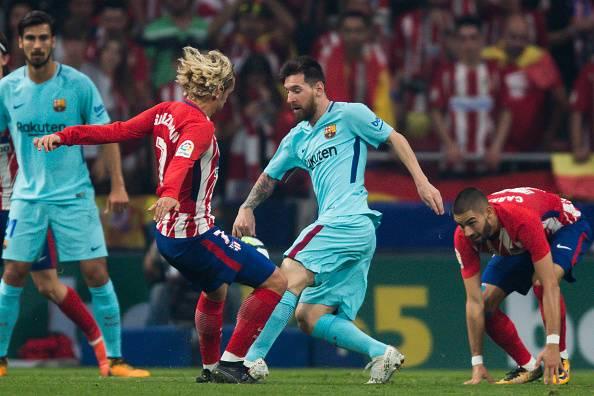 لیونل مسی و استقبال از انتقال گریزمان به بارسلونا
