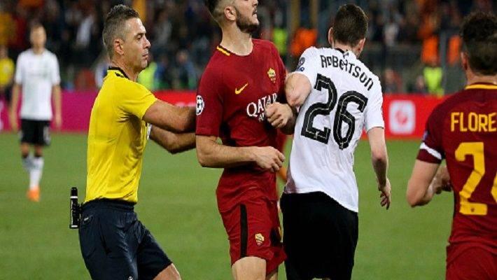 اعتراض شدید بازیکنان و مدیریت رم به داور بازی با لیورپول