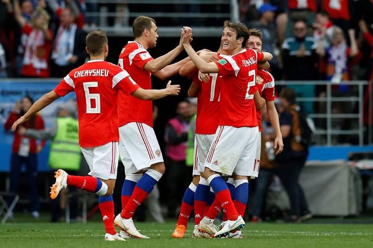 روسیه 5-0 عربستان: شروع قهرمانانه میزبان