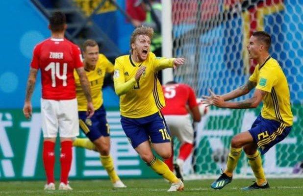 صعود سوئد به یک چهارم جام جهانی 2018 با برتری مقابل سوئیس