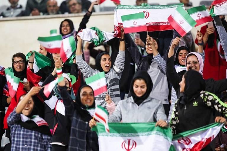Image result for تماشاگران زن ایران