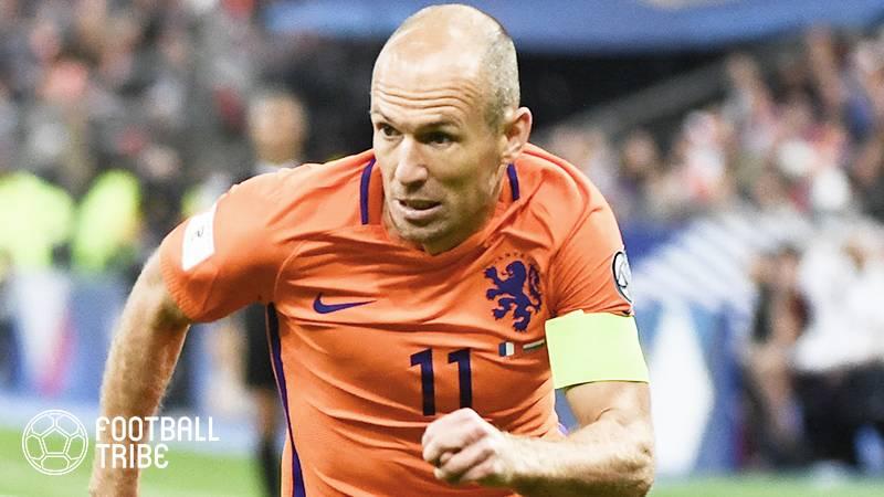 ロッベンがオランダ代表引退を表明。最終節スウェーデン戦で2ゴール挙げるもロシア行き叶わず