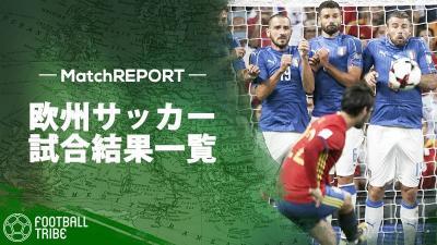 首位スペインが2位イタリアの直接対決。両チーム無敗同士による対戦の行方は【W杯欧州予選試合結果一覧】