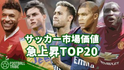 1位は3ヵ月で73億円上昇。ネイマール、ムバッペ、ディバラ…今夏大きく価値を上昇させたサッカー選手TOP20