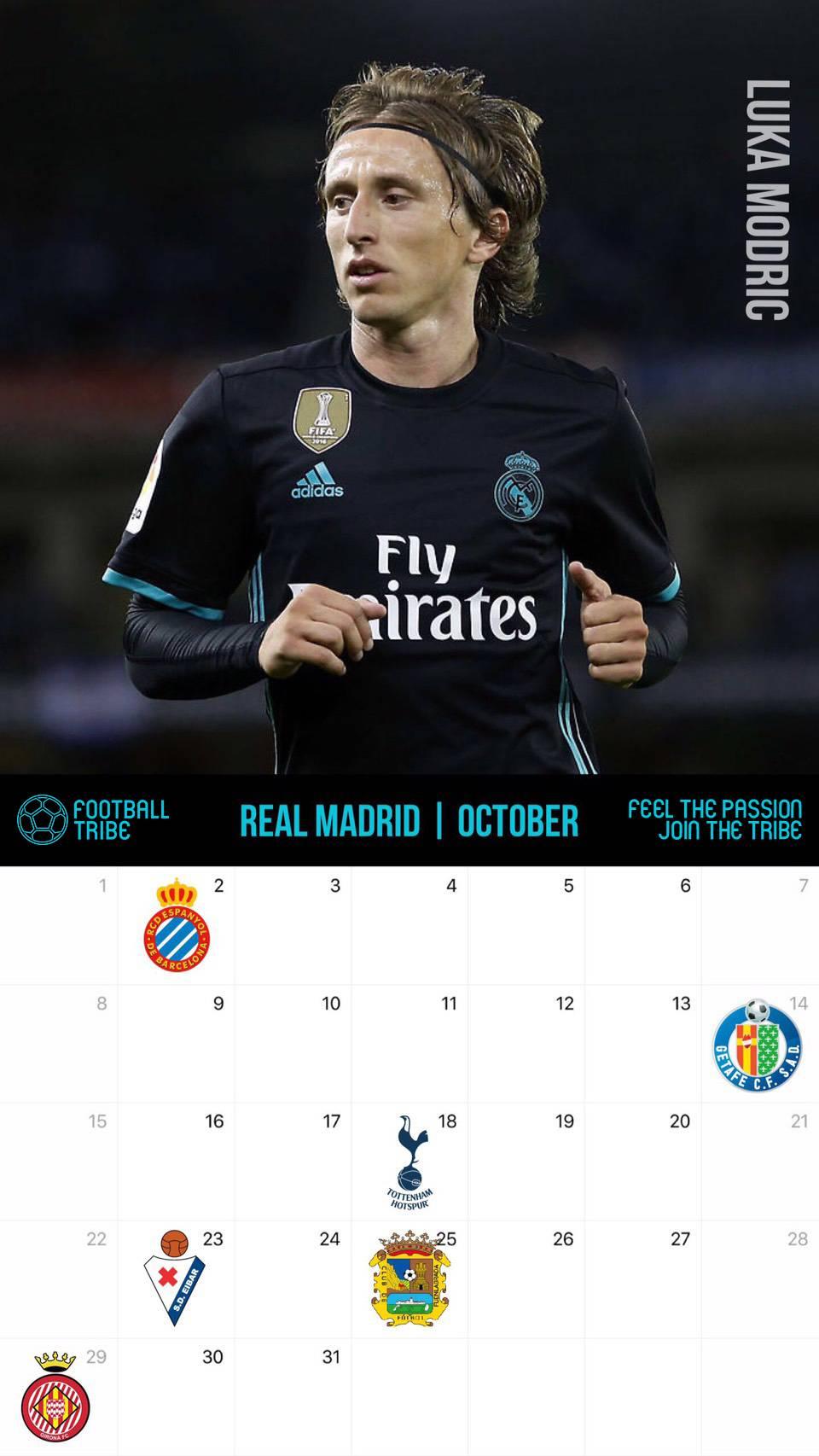 サッカー カレンダー壁紙 2017年10月版 サッカー壁紙 スマートフォン