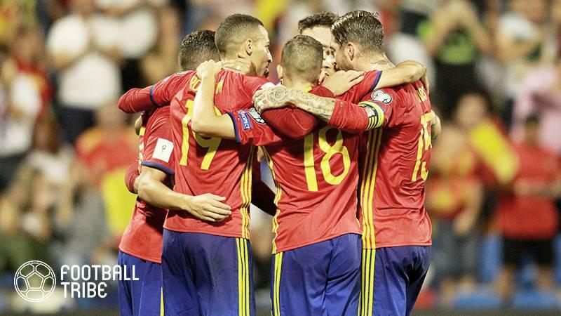 """スペイン、""""ピケ泥沼騒動""""も欧州予選の首位通過が決定。アルバニアに3-0で快勝"""