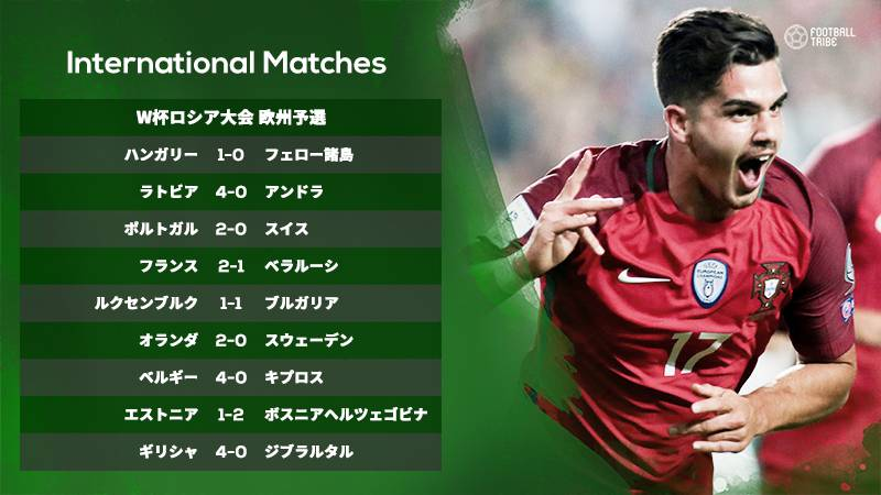 ポルトガルが本大会ストレートインをかけてスイスと激突。予選敗退濃厚のオランダはいかに【W杯欧州予選試合結果一覧】