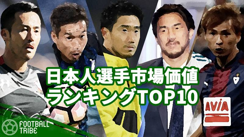 最も評価されている日本人選手は誰だ?長友、香川…海外日本人選手市場価値トップ10