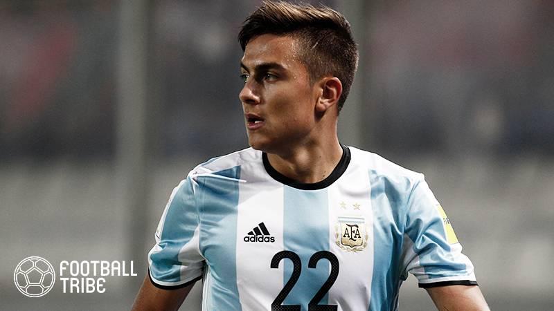 ディバラ、ロシアW杯のアルゼンチン代表メンバー入りはほぼ当確か