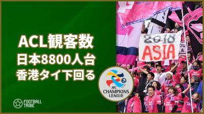 ACLグループステージの各国の平均観客数が明らかに。日本はタイや香港を下回る
