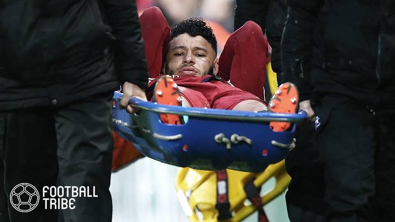 """リバプールの英代表FW、CLローマ戦の靭帯損傷で再び""""不運""""に"""