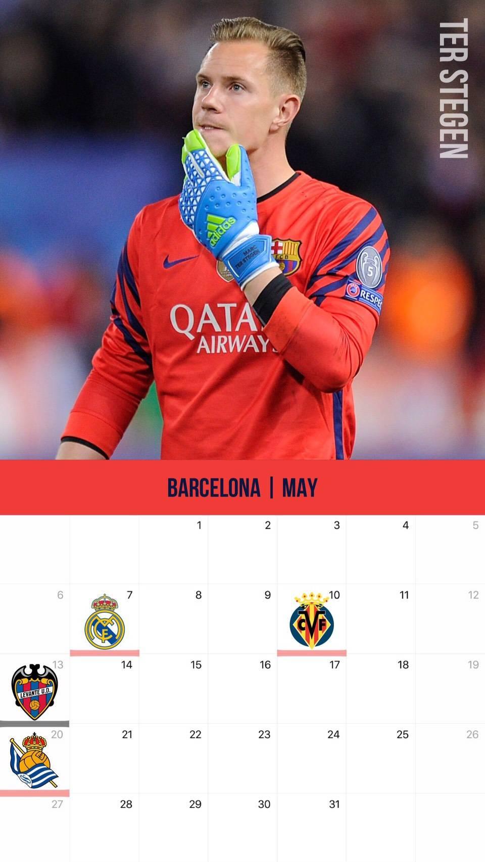 サッカー カレンダー壁紙 2018年5月版 サッカー壁紙 スマートフォン