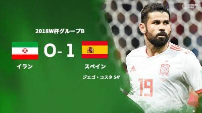 堅守イランを下したスペイン、決勝T進出へ一歩前進