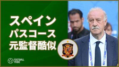 イランに辛勝のスペイン、パスコースの軌跡が元同国代表監督の顔に酷似