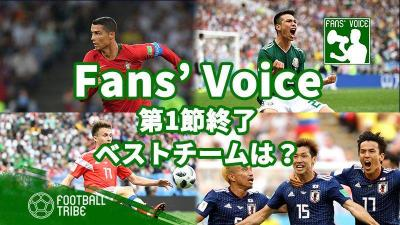 【Fans' Voice】第1節を終えた時点のベストチームは?