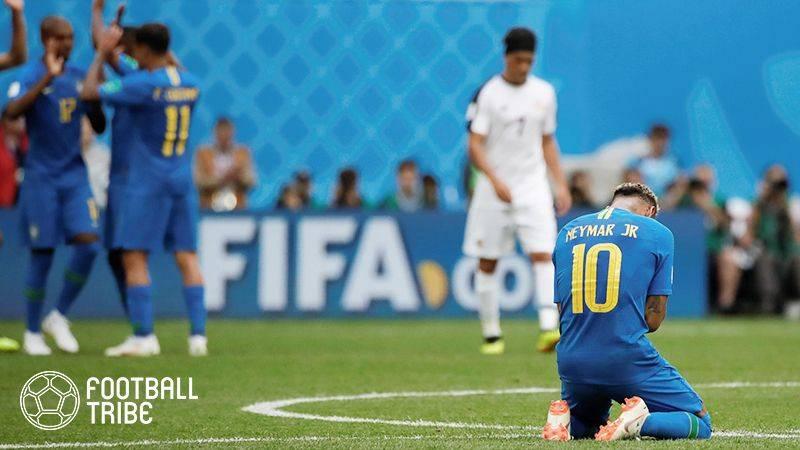 ネイマール、コスタリカ戦勝利後にピッチ上で流した涙の意味語る