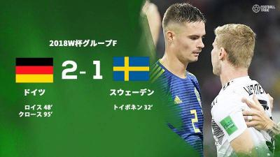 前回王者ドイツ、スウェーデンに劇的勝利で決勝T進出に一歩前進