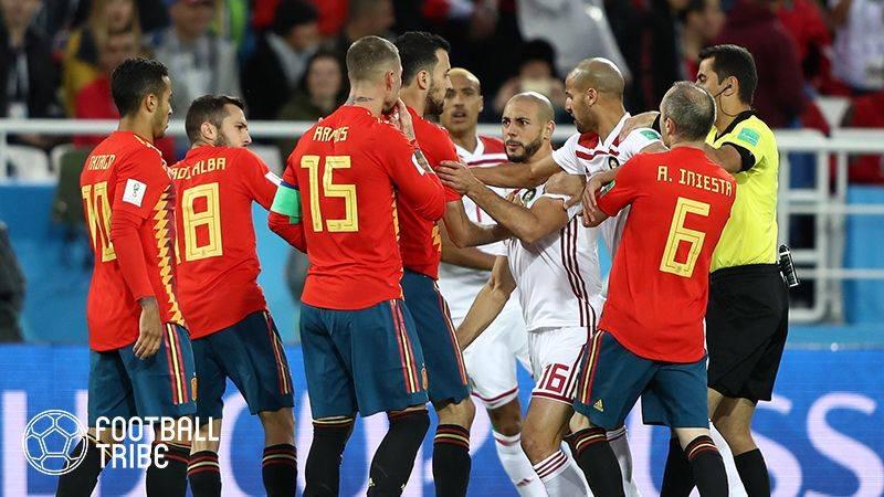 劇的展開で決勝T進出のスペイン。モロッコとの激戦は痛み分け