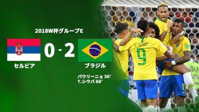 盤石ブラジルがセルビアを破りグループ首位突破