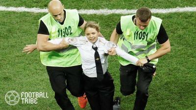 W杯決勝に乱入していたのは反プーチンのバンド関係者
