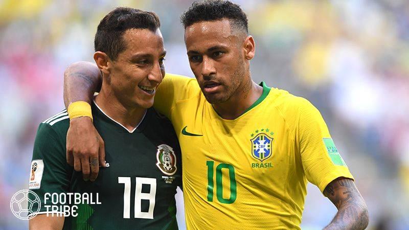 盤石ブラジルがメキシコに完勝。日本が勝てば準々決勝で対戦