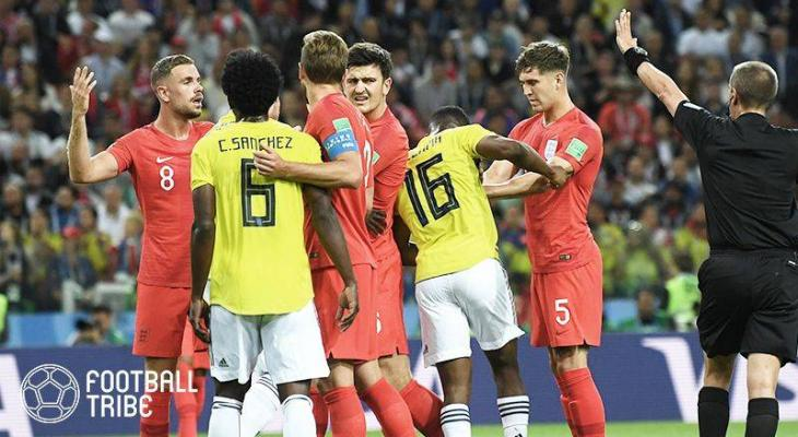 コロンビア対イングランド戦のや...