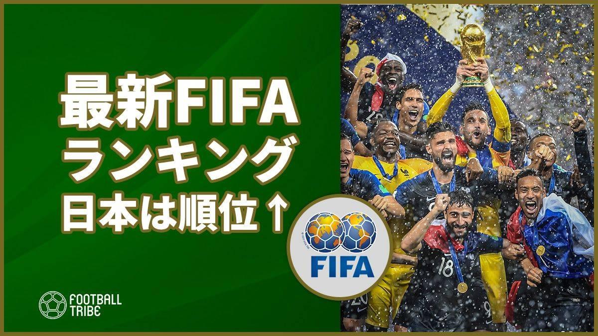 FIFAランキングが発表。W杯ベスト16進出の日本は6位アップ