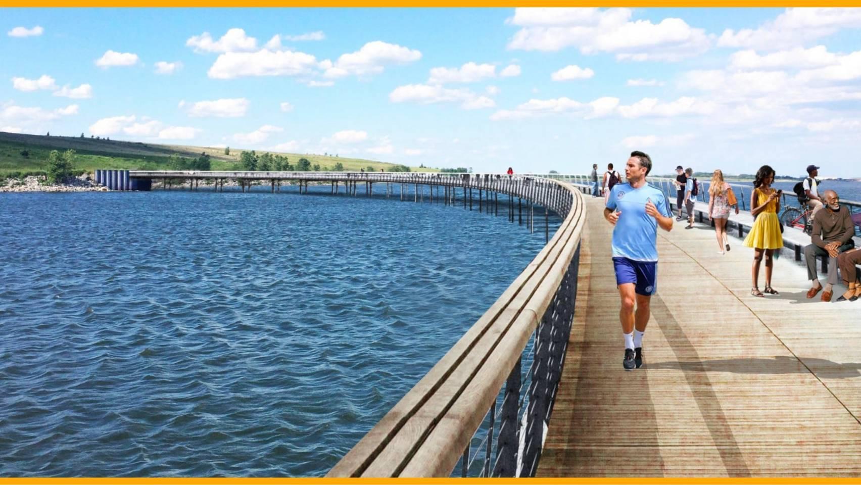ニューヨークの新設公園写真にジョギングするランパード?