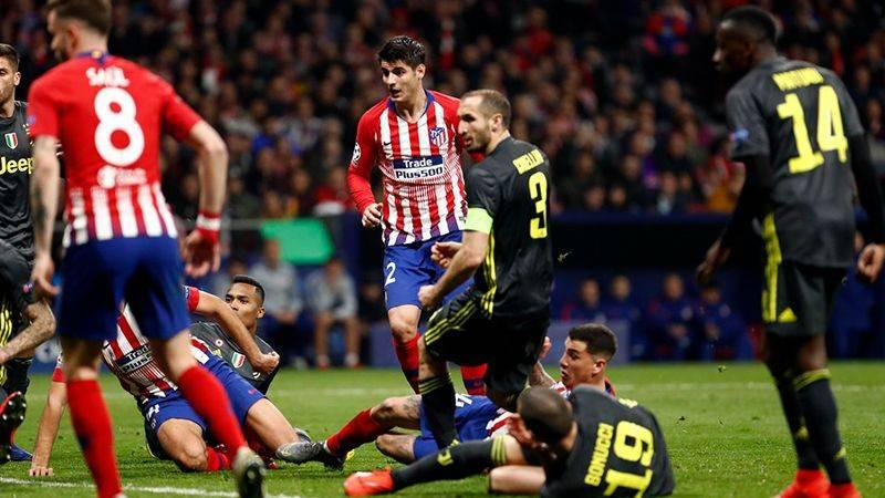 Atletico,Morata在CL Ube比赛中受伤肩膀比利亚雷亚尔队