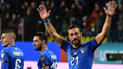イタリア代表、EURO2020予選2試合のメンバー発表。今季セリエA得点王クアリャレッラが招集