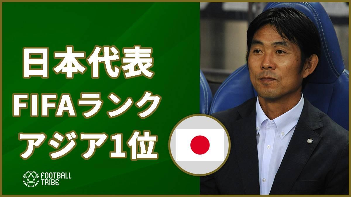 最新のFIFAランキング発表。日本は28位でアジア1位に!