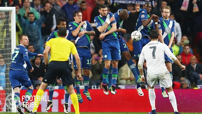 レアル、公式戦で1年間直接FKでゴールしてなかった…