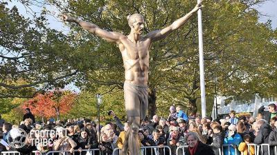 マルメにあるイブラヒモビッチ像、完全に破壊される…