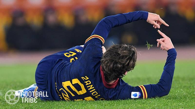 ローマMFザニオーロが今季絶望に。イタリア代表にも大きな痛手…