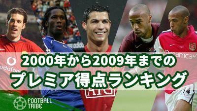 2000年から2009年までのプレミア得点ランキングを振り返る!
