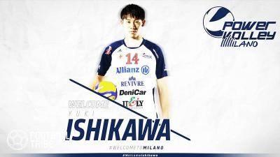 ミラノのバレーボールクラブに移籍した石川祐希。本田圭佑に並ぶ大人気